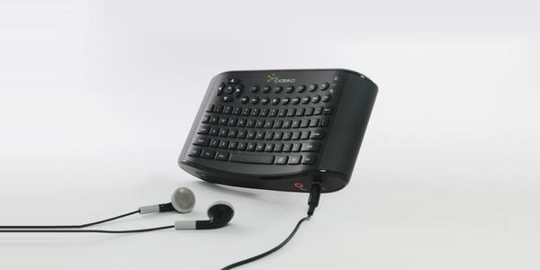CIDEKO AK-05 Sort Air Keyboard Chatting trådløst tast. AIR-101