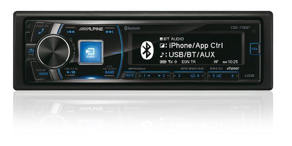 alpine din bilradio alpine cde bt bilradio med bluetooth cd usb aux apple tilslutning p