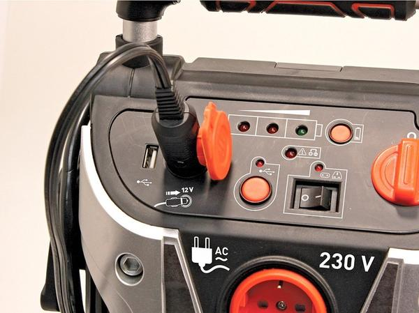 Black & Decker jumpstarter VG11 med kompressor og 230v inverter