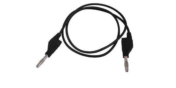 Testkabel med bananstik TLM8B-19796 - 4mm (1m sort)