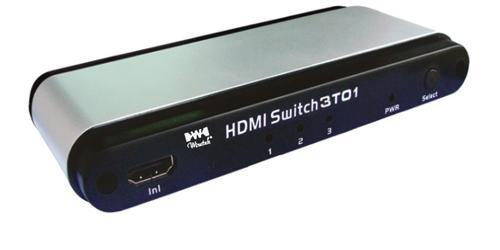 MicroConnect HDMI aktiv 1.3 Switch 3 to 1 1.3a WE083