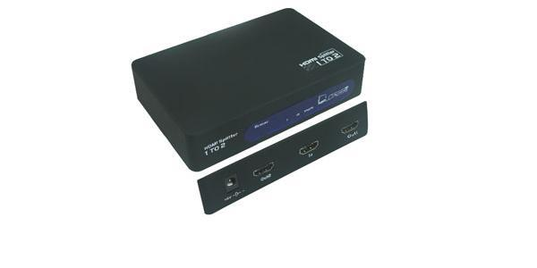 MicroConnect HDMI Splitter 1 til 2 WE427