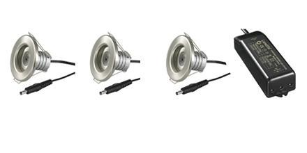 LED Downlight 35 KIT 3x1W ODF Chip 22° 30237