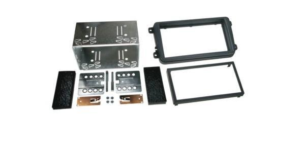 "Radio ramme 451-391320-10 2DIN Fascia kit VW SEAT Sort ""Rubber"""