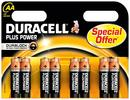 Duracell Plus Power LR6 / AA Batteri 1.5 V - Pakke med 8 stk 43755